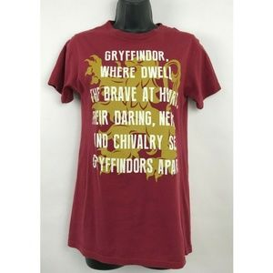 Harry Potter Gryffindor Where Dwell Brave Shirt S